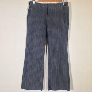 Gap Dress Pants Womens Junior 1 Gray Pinstripe
